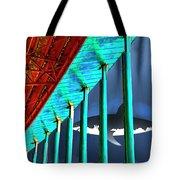 Surreal Bridge Shark Cage Tote Bag