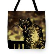 Surreal Cat Yawn Tote Bag