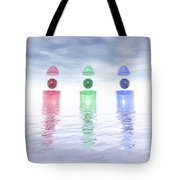 Surreal Glass Structures Tote Bag