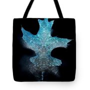 Surreal Ice Leaf Tote Bag