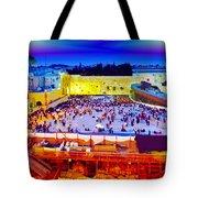 Surreal Jerusalem Art Tote Bag
