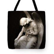 Surreal Sad Angel Kneeling In Prayer Tote Bag
