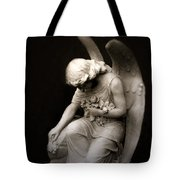 Surreal Sad Angel Kneeling In Prayer Tote Bag