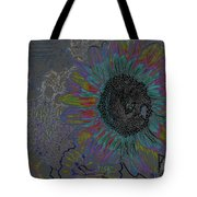 Surreal Sunflower And Bee Tote Bag