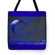 Surreal Surfing Blue Tote Bag