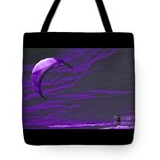 Surreal Surfing Purple Tote Bag