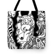 Surrealism Pagan Black And White Tote Bag