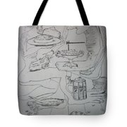 Surrealist Man And Woman Tote Bag
