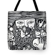 Surround Yoursel With Roses Love Drink And Be Silent The More Is Nothing Tote Bag
