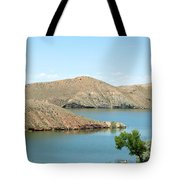 Surrounded By Mountains Tote Bag