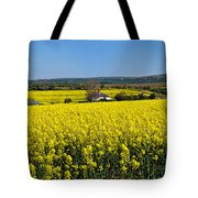 Surrounded By Rapeseed Flowers Tote Bag
