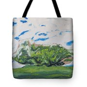 Surrounded With Clouds Tote Bag