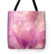 Surureal Hot Air Balloons Lavender Pink White Decor - Carnival Hot Air Balloons Nursery Room Decor Tote Bag