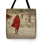 Surveying The Herd Tote Bag