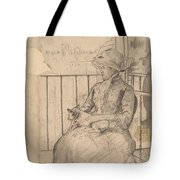 Susan On A Balcony Holding A Dog [recto] Tote Bag
