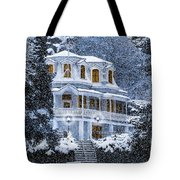 Susanville Elks Lodge At Christmas Tote Bag