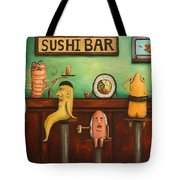 Sushi Bar Darker Tone Image Tote Bag