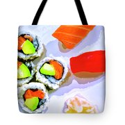 Sushi Plate 6 Tote Bag