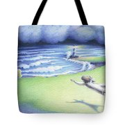Suspended In Light Tote Bag