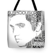 Suspicious Minds Elvis Wordart Tote Bag