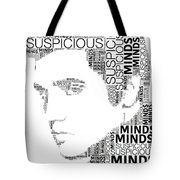 Suspicious Minds Elvis Wordart Tote Bag
