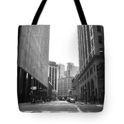 Sutter Street - San Francisco Street View Black And White  Tote Bag