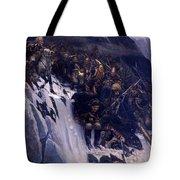 Suvorov Crossing The Alps In 1799 Tote Bag