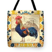 Suzani Rooster 1 Tote Bag