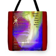 Suzannian Algorithm Finger-painted On An Abstract Wall Number 1 Tote Bag