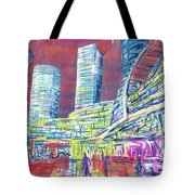 Suzhou Center Mall In The Rain, East Side, Suzhou, China Tote Bag