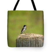 Swallow On A Stump Tote Bag