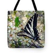 Swallowtail And Plum Blossoms Tote Bag
