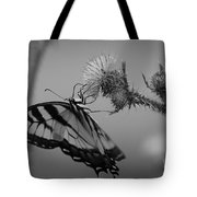 Swallowtail Black And White Tote Bag