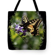 Swallowtail Butterfly 1 With Swirly Frame Tote Bag