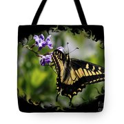 Swallowtail Butterfly 2 With Swirly Framing Tote Bag