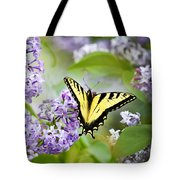 Swallowtail Butterfly On Lilacs Tote Bag