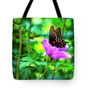 Swallowtail In Flower Tote Bag
