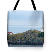 Swallowtail Lighthouse And Keeper Tote Bag