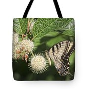 Swallowtail With Flowers Tote Bag