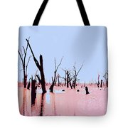 Swamp And Dead Trees Tote Bag