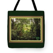 Swamp L A With Decorative Ornate Printed Frame. Tote Bag