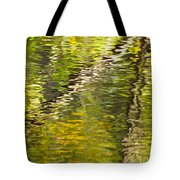 Swamp Reflections Abstract Tote Bag