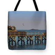 Swampscott Pier Swampscott Ma Tote Bag