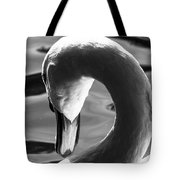 Swan Abstract Tote Bag