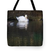 Swan And Geese Tote Bag