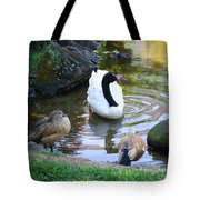 Swan And Wood Ducks Tote Bag