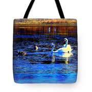 When It Seems Like The Swans Are Ruling The Sea  Tote Bag by Hilde Widerberg