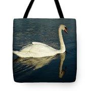 Swan Blasting Away Tote Bag