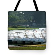 Swan Boat In A Lake Tote Bag