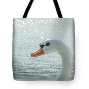 Swan Boat In The Lake Tote Bag